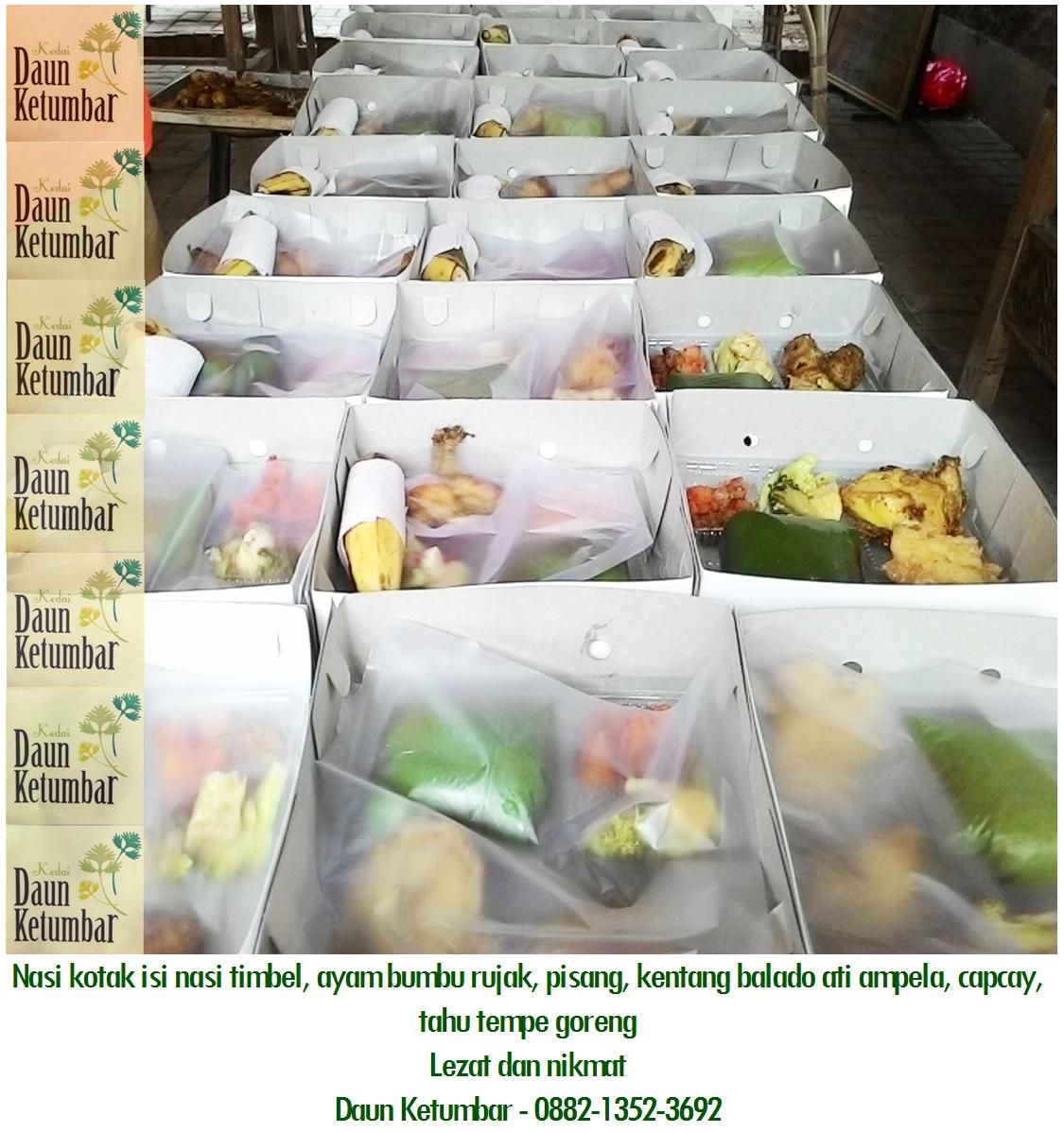 Nasi box murah dan sehat