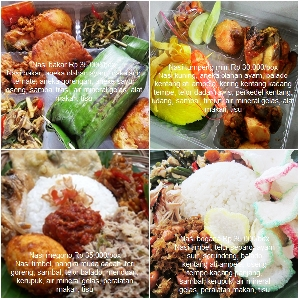 Nasi kotak tradisional tujuh bulan Jakarta Timur