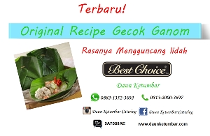 Menu Nasi Gecok Ganom Jakarta