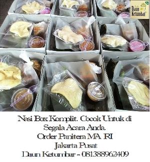 Nasi box di Jakarta Selatan