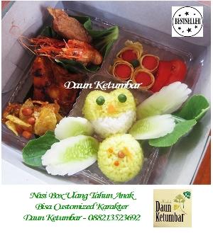 Nasi box ultah anak Jakarta