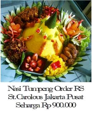 Nasi tumpeng enak dan murah di Jakarta Pusat