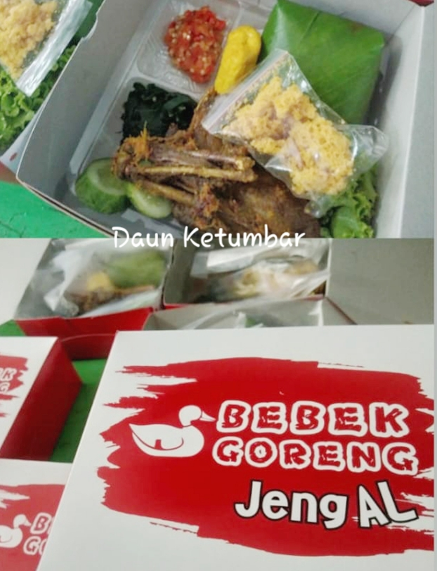 PAKET BEBEK GORENG KREMES JENG AL By DAUN KETUMBAR
